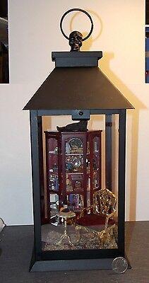 Dollhouse Miniature Halloween Lantern Scene Curio Wine Cat 1:12 1 inch scale  W