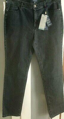 Atelier Gardeur Regular Slim Fit Inga Black Jeans Size 44/UK 18 RRP £95.00