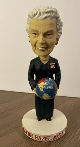 Mayor Hazel McCallion Bobblehead  - 2006 Holding Globe Mississauga Canada