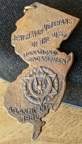 1932 JEWISH WAR VETERANS OF U.S. INTERNATIONAL ENCAMPMENT ATLANTIC CITY PENDENT