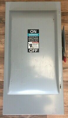 Siemens Gnf324 Non Fusible Safety Switch 200a 240vac 250vdc Type Bvii 60hp Nema