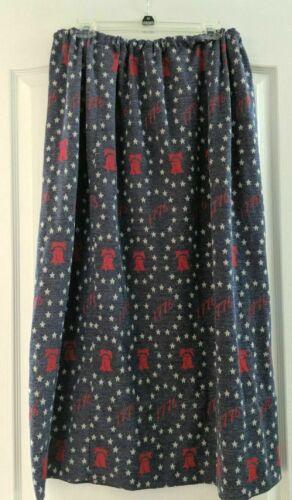 Handmade Bicentennial Skirt Liberty Bell Red White Blue July 4th