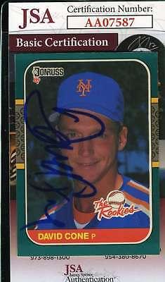 David Cone Hand Signed - DAVID CONE 1987 Donruss JSA Coa Autograph Authentic Hand Signed