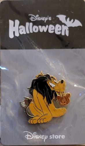 Japan Disney Store JDS Pluto Dressed As Scar Pumpkin Halloween NOC Pin