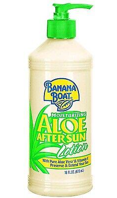 Banana Boat Aloe Vera Sun Burn Relief Sun Care After Sun Lotion 16oz 473ml