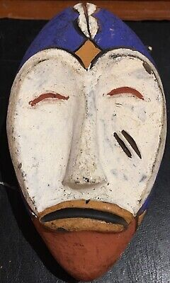 Mask Reduced Terracotta Africa Ethnic Cameroon Bamileke Pigment Human