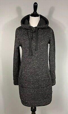 Fabletics Yukon Sweater Dress S Heather Gray Hooded Polyester Pockets