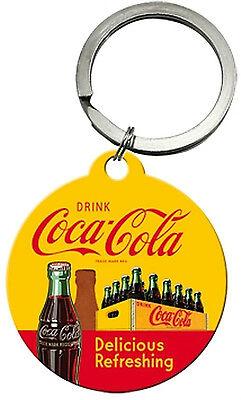 Nostalgic Art Coca Cola Delicious Refreshing Schlüsselanhänger rund 4cm