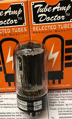 Factory Matched Pair Tube Amp Doctor TAD 6L6 6L6WGC-STR GE Type Black Plate Tube