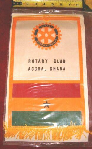VINTAGE Rotary International Club wall banner flag     ACCRA   GHANA