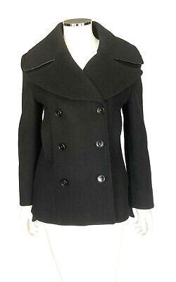 $1000 Acne Studios Double Breasted Black Coat sz 2 (34)