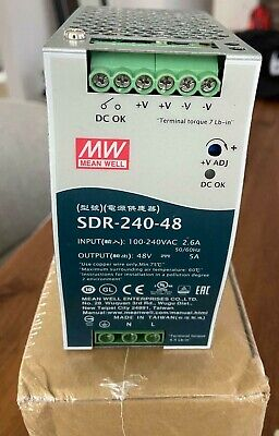 Mean Well New Sdr-240-48 48v 5a Single Output Power Supply 240w
