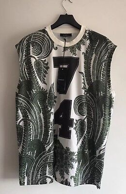 GIVENCHY Paisley 74 Tank Top OVERSIZED T-Shirt Size L RARE