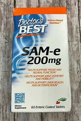 Doctor's Best SAM-e 200mg 60 Enteric Coated Tablets exp