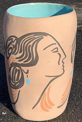 "R C Gorman Ceramic Vase. Sylvia 1983 Greg Grycner Ltd Ed. Signed 11/50. 26"" Tall"