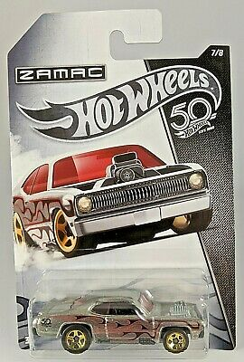 2018 - Hot Wheels NIP Plymouth Duster Thruster  ZAMAC - Walmart Exclusive - 7/8