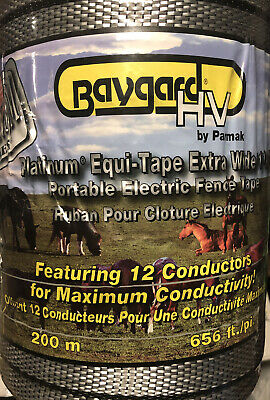 Baygard Hv 1 12 Poly Silver Electric Fence Horse Tape 656ft Equine Parmark
