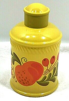 Avon 1970's Pennsylvania Dutch Patchwork Bottle Yellow Orange Home Bath Decor