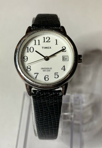 Women s Timex Watch Indiglo Date New Band New Battery Good Condition  - $7.90