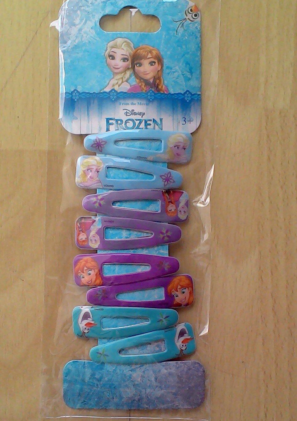 Frozen Eiskönigin 8 mal Haarspangen Haarklammern Prinzessin Elsa Anna Neu / OVP*