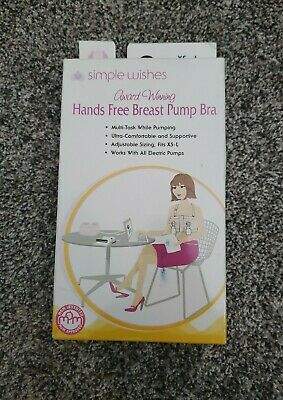 Simple Wishes Hands-Free Breast Pumping Bra - X-Small to Large, Pink New