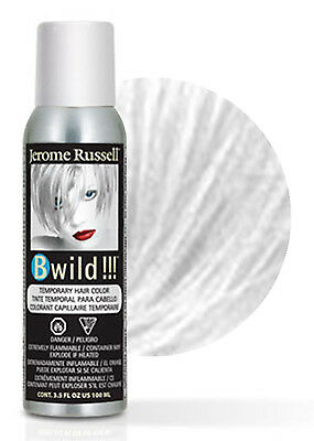 Jerome Russell B Wild Temporary Hair Color Spray 100mL Siberian White (White Hair Spray)