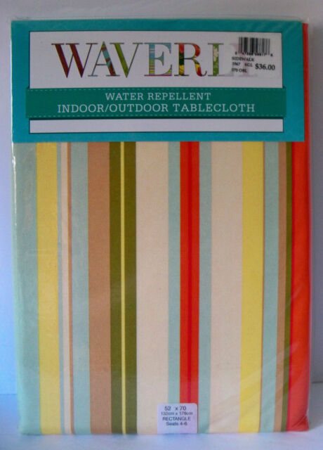 Waverly Tablecloth Sidewalk Chalk 100% Polyester 52 X 70 Water Repellent  SPRING