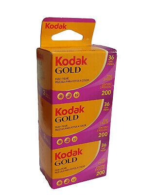 Kodak Gold 200 35mm Colour Print Film - 135-36 - 3 Pack