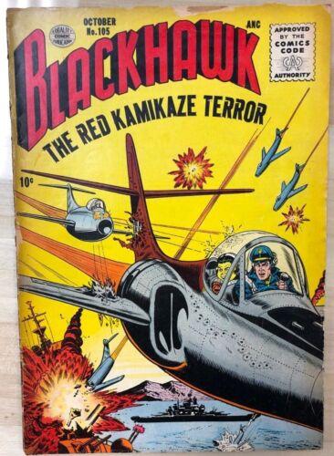BLACKHAWK #105 (1956) Quality Comics VG+