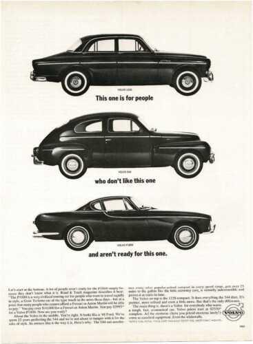 1963 VOLVO 112S 544 P1800 Vintage Print Ad