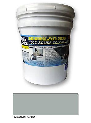 Norklad 200 - 100 Solids Epoxy - Garage Floor Paint Medium Gray