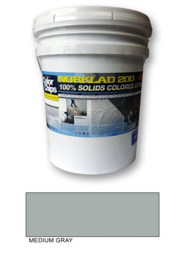 Norklad 200 - 100% Solids Colored Epoxy Paint, Medium Gray, 3 gallon Kit