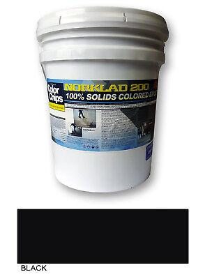 Norklad 200 - 100 Solids Epoxy - Garage Floor Paint Black