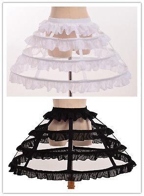 Lolita Girls 3 Hoop Cage Bustle Skirt Pannier Petticoat Underskirt - Cage Petticoat