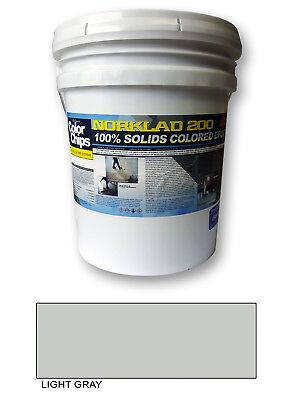 Norklad 200 - 100 Solids Epoxy - Garage Floor Paint Light Gray