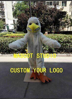 White Bird Costume (Halloween White Plush Bird Mascot Costume Little Eagle Fancy Dress Carnival)