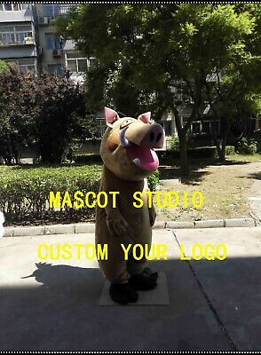 Pumbaa Costume (2019 Pumbaa Mascot Costume Cosplay Party Game Dress Outfit Advertising)