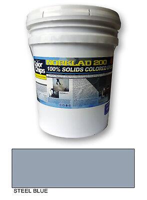 Norklad 200 - 100 Solids Epoxy - Garage Floor Paint Steel Blue