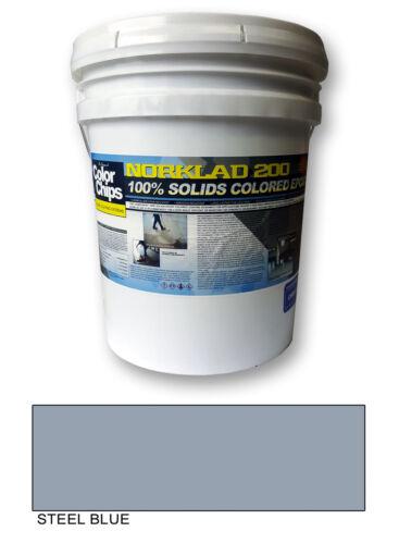 Norklad 200 - 100% Solids Colored Epoxy Paint, Steel Blue, 3 gallon Kit