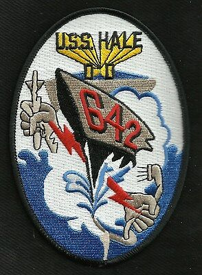 US NAVY USS HALE DD-642 FLETCHER-CLASS DESTROYER MILITARY PATCH