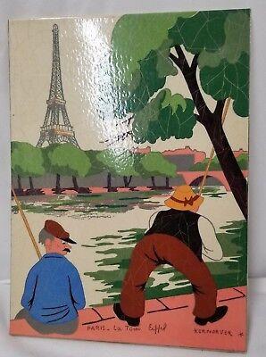 1940's Kermorver Art Painted Gouache/Paper Fish 8.5