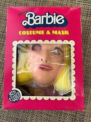 VINTAGE 1983 * Halloween Plastic Mask + Costume * RARE! * Ben Cooper Barbie