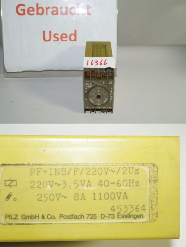 Pilz PF-1NB/F/220V 453364 Safety Relais Relay