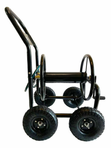 Garden Hose Reel Cart, Portable Hose Organizer with  Solid Wheels HR001