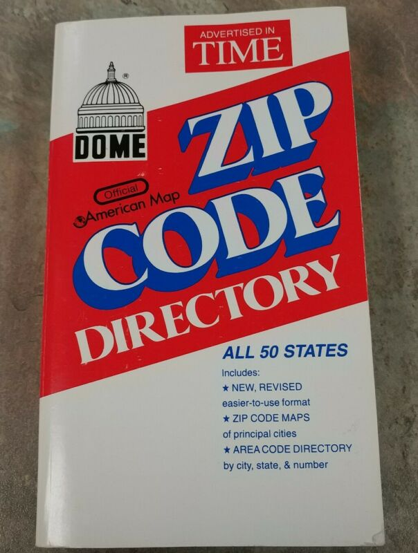 Dome Zip Code Directory, Paperback, 752 Pages