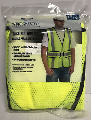 Polyester High Visibility Reflective Construction Breakaway Vest Ppe Safety
