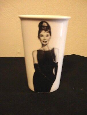 Audrey Hepburn- Breakfast at Tiffany's: 12 oz Ceramic Travel Mug-No Lid