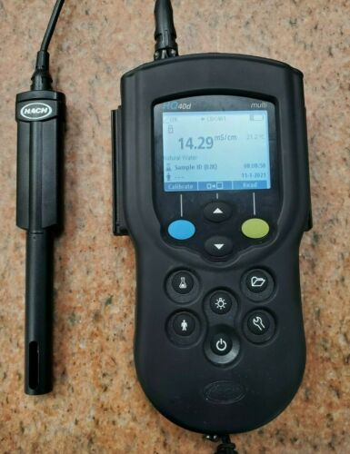 Hach HQ40d Portable Multi-Probe Meter with CDC401 Conductivity Probe /  TDS