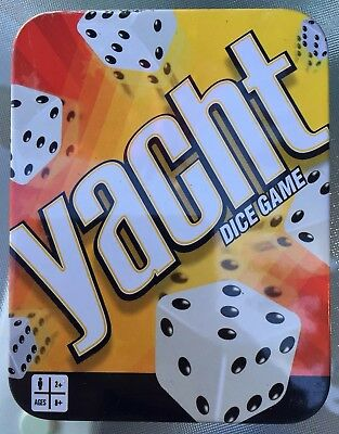 Yacht Dice Game in Tin Box Complete