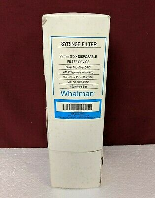 Whatman 6886-2512 Gdx 25 Mm Syringe Filter 1.2 M Gfc Membrane Pack Of 150